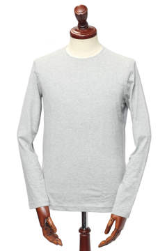 sanded jersey crew neck サンデッドジャージー ロングスリーブ クルーネック カットソー /  グレー granite【UOMO 7月号掲載】